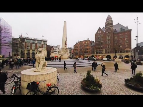 360 VR Tour | Amsterdam | Dam Square | National (Nationaal) Monument | VR Walk | No comments tour