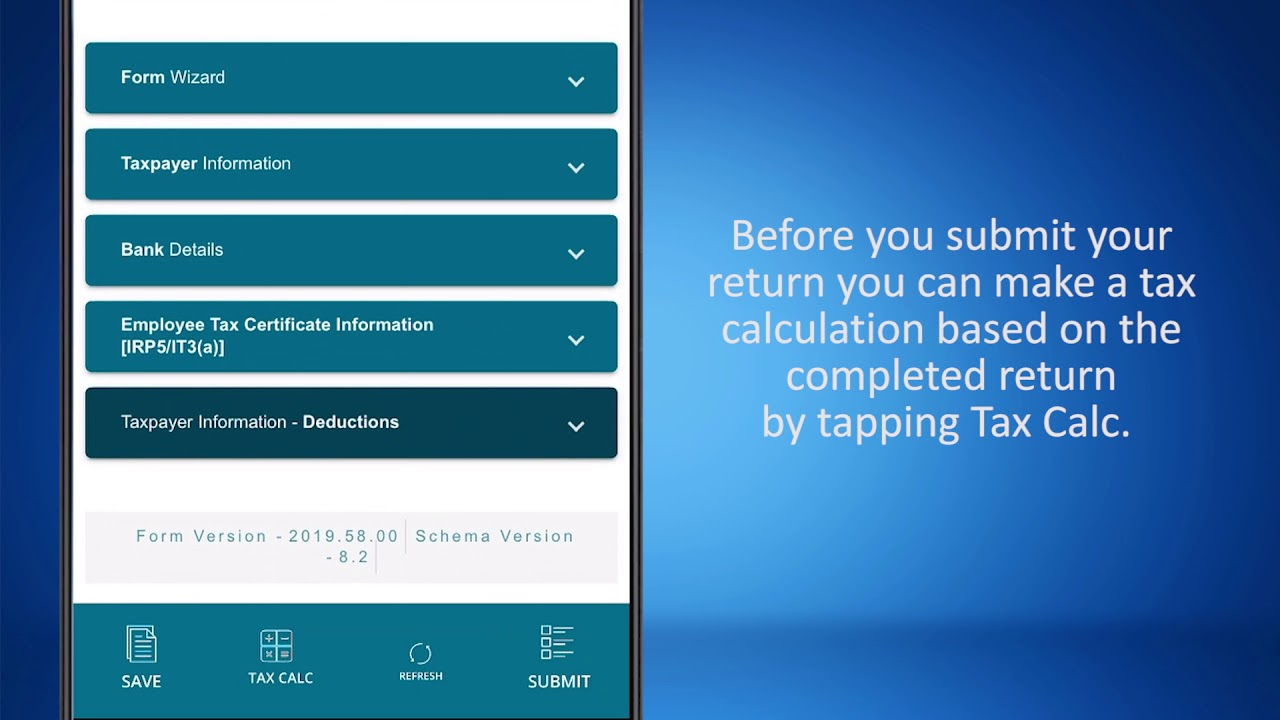 Sars Mobiapp How To Submit Your Income Tax Return Itr12