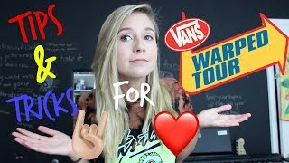 tips and tricks for warped tour
