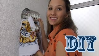 Organizador de pano de prato – Reutilizando latas de leite