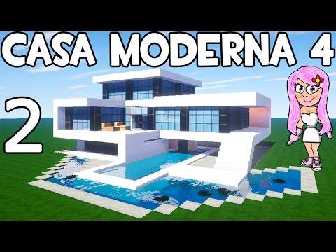 CASA MODERNA 4 EN MINECRAFT   Parte 2 CÓMO HACER Y CONSTRUIR