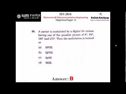 Answer Key  UPSC IES 2014 Electronics & Telecommunication Engineering Objective Paper - II