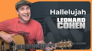 Hallelujah - Leonard Cohen - Easy Acoustic Beginner Guitar Lesson (BS-801) How To Play