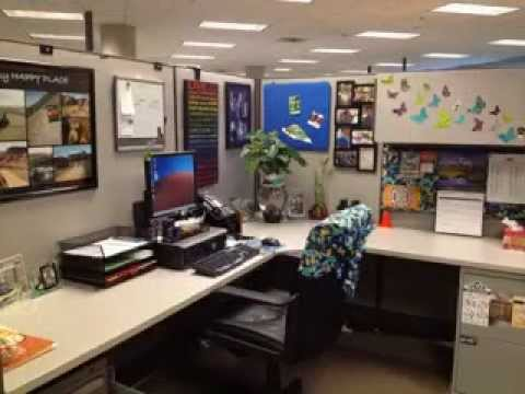 Creative cubicle decorating ideas youtube for Creative cubicle ideas