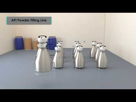 Powder Filling Application Animation