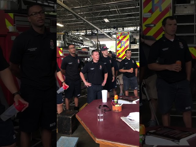 Arctic Cool surprise Buffalo firefighters with barbecue and cooling merch