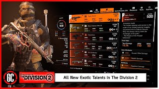 All New Exotic Talents in Title Update 8 | The Division 2