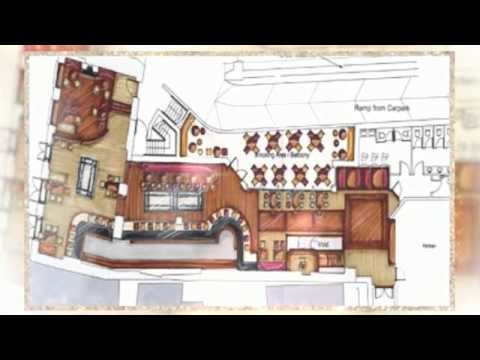 3d restaurant floor plan youtube Designing kitchen diner layout
