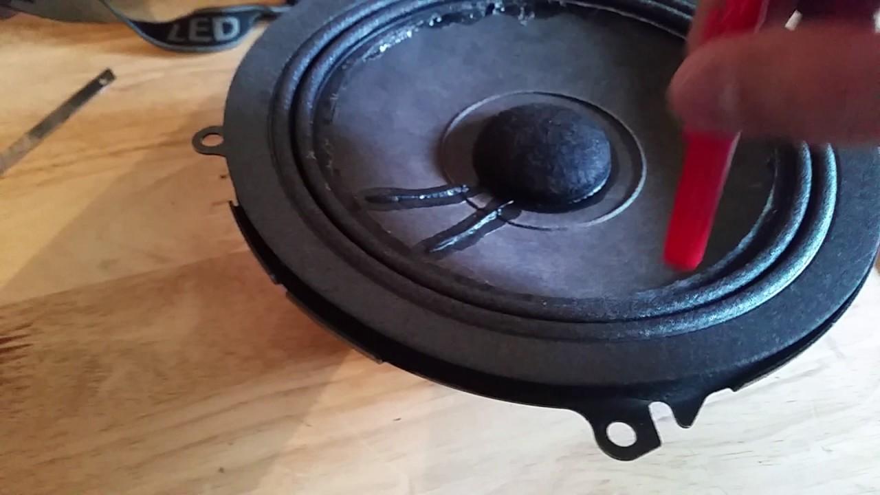 2005 Toyota Tundra Front Door Speaker Re-Cone Kit Blown Speakers Fixed