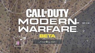 Modern Warfare Beta - Playing With Mini map (just got back)