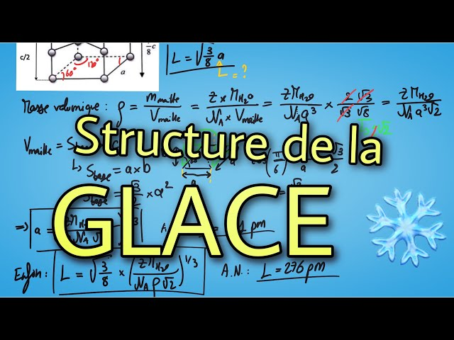 🧊 Structure de la glace 🧊