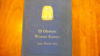 Collectible 1932 Lake Placid Winter Olympics Book FOR SALE!