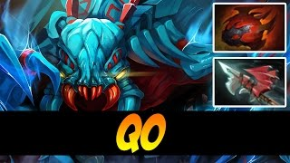 qo 7400mmr plays weaver with tarrasque and hurricane pike dota 2