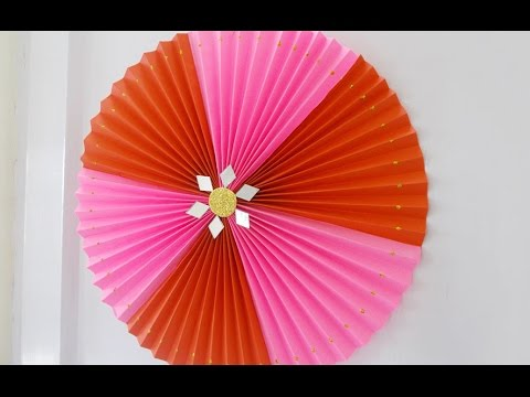 Diy crafts super easy home decor idea rosette making for Decoration items made at home