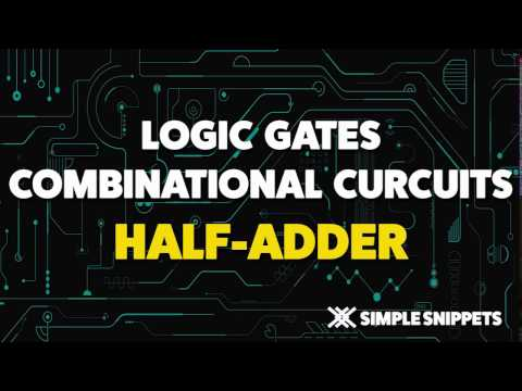 Half Adder Combinational Circuit | Boolean Algebra & Logic Gates