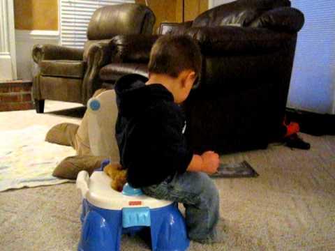 Kids toilet breaking poop - YouTube