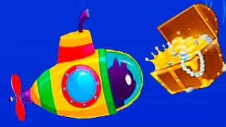КОТЕНОК БУБУ #32 - Подводная лодка видео для детей - Виртуальный Котик - игровой мультик #ПУРУМЧАТА