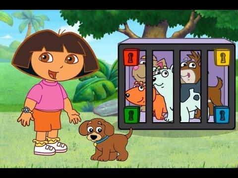 Dora Salva a Los Perritos Dora Juegos Para Nios en Espaol  YouTube