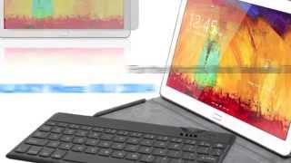 mbeat ultra thin bluetooth keyboard folio case for galaxy note 10 1 2014