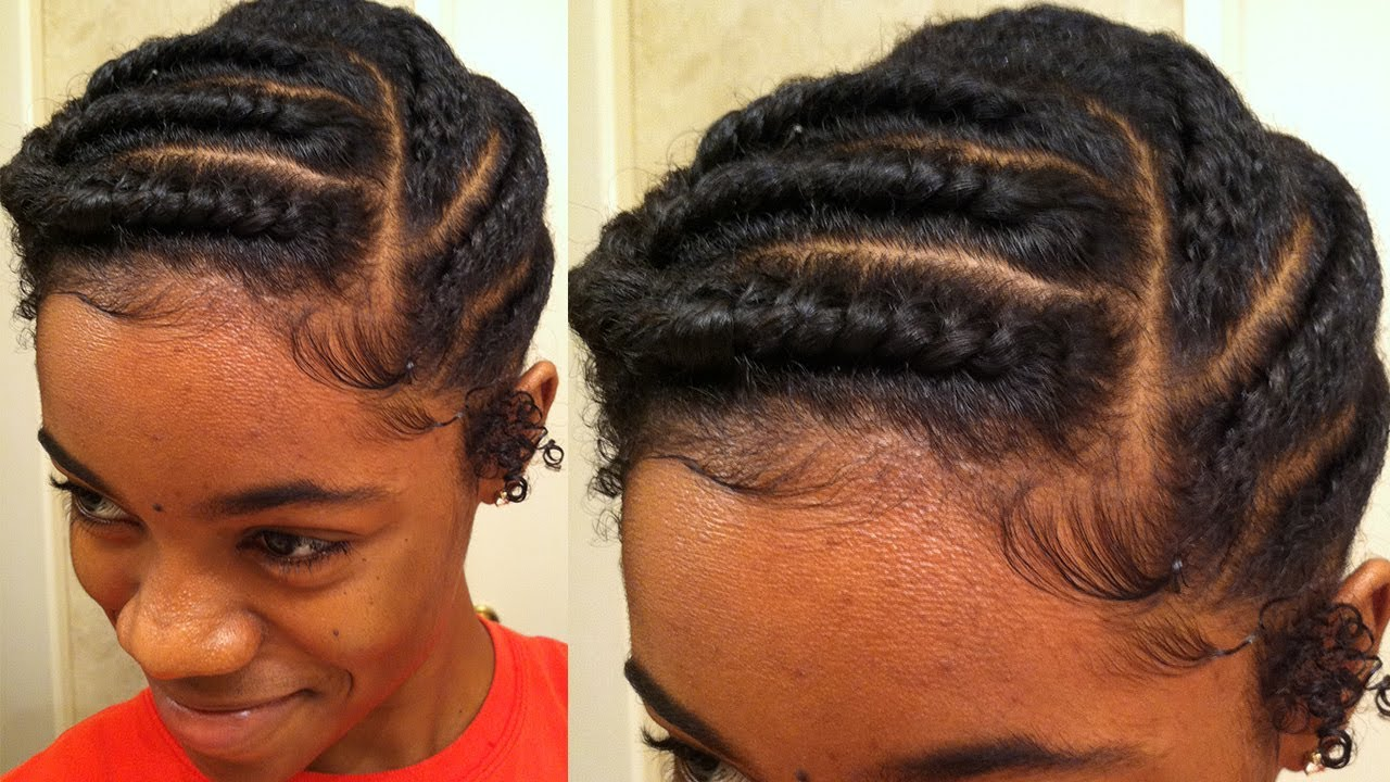 flat twist protective style natural