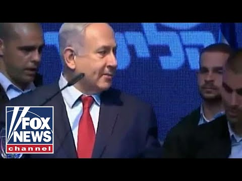 Netanyahu rushed off stage after rockets fired into Israel