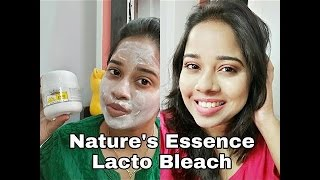 How I Bleach At Home | Nature's Essence Lacto Bleach | Review + Demo
