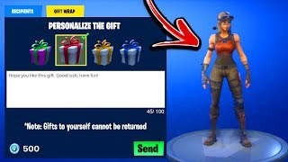 "HE GIFTED A SKIN! - What Happens?! ""NEW FORTNITE GIFTING SYSTEM UPDATE!"" HOW TO GIFT SKINS GAMEPLAY!"
