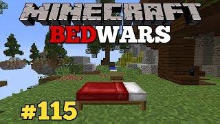 Minecraft : BED WARS no skycraft #115 - RUSHARAM LOUCO NA NOSSA ILHA!!! JOGANDO COM INSCRITOS!!