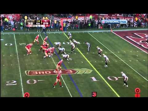 Alex Smith To Vernon Davis Game Winning Touchdown 49ers vs. Saints 2012 Playoffs
