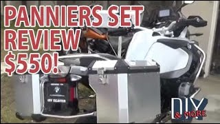 DIY BROOKS PANNIERS REVIEW ON 2016 BMW R1200GS ADVENTURE, WATER COOLED.