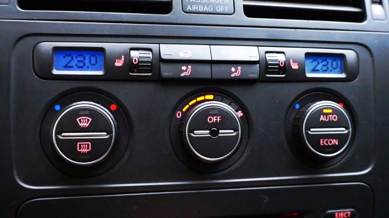 VW/Skoda Climatronic zones sync activation - Смотреть видео