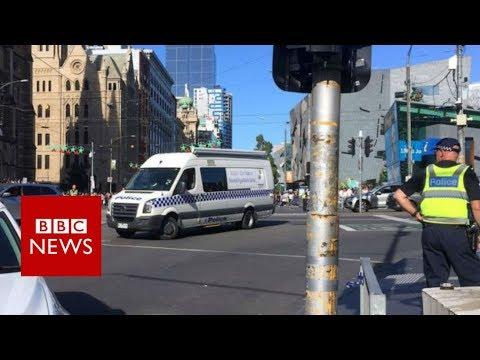 Melbourne crash scene aftermath - BBC News