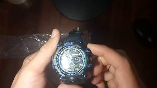 sKMEI 1155 Men Watch обзор, настройка, инструкция на русском