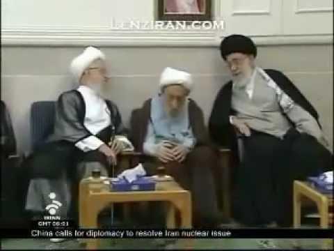 Ayatollah Makarim Shirazi with Ayatollah Khamenei