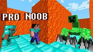 Minecraft Noob vs. Pro : HARD MAZE WITH MUTANT CREEPER challenge - funny Minecraft battle