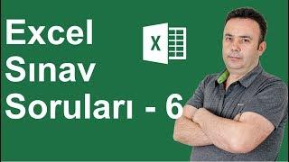 Excel Uygulama Sınavı 6. Soru - 326.video   Ömer BAĞCI
