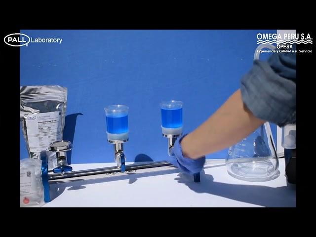 Control de calidad microbiológico Filtración con MicroFunnel Pall 4800
