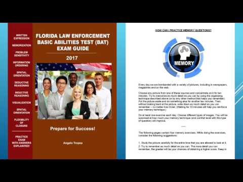 FLORIDA BAT TEST - FLORIDA LAW ENFORCEMENT BASIC ABILITIES TEST ...