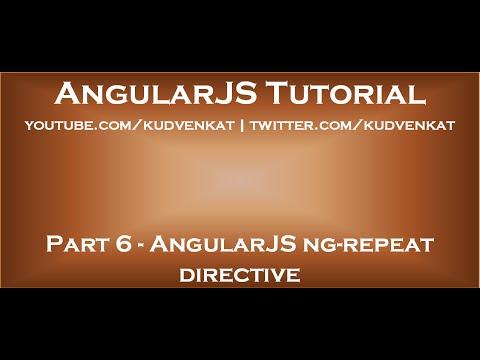AngularJS Ng Repeat Directive