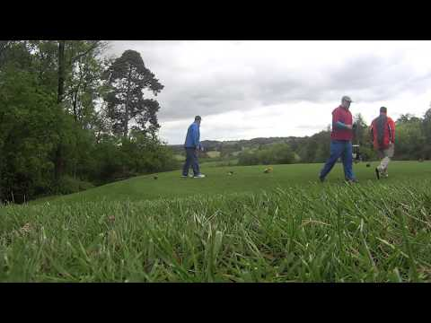 The Bristol Golf course hole 3. Four ball teeing off