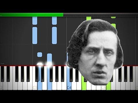 Chopin Fantasie Impromptu  Op 66 Piano EASY Cover Midi Tutorial Sheet App