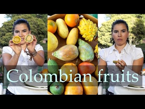 Colombian fruit tasting