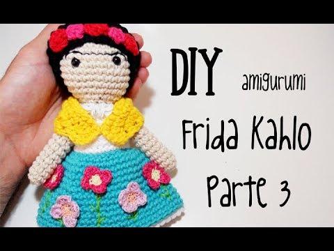 Frida Kahlo Amigurumi Crochet - #KeychainCrochet Tutorial - YouTube | 360x480