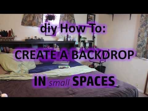 diy: Backdrop in small spaces