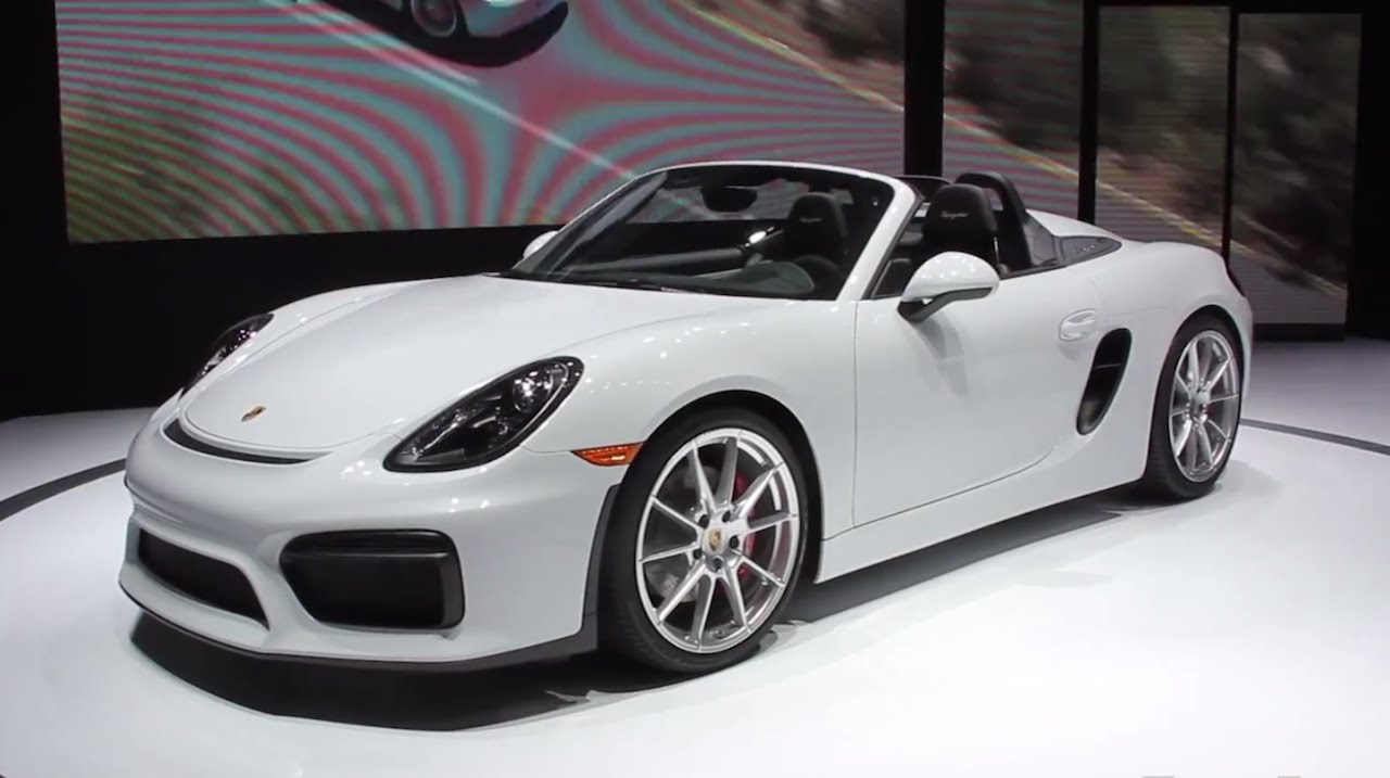 2016 porsche boxster spyder 2015 nyias fast lane daily youtube