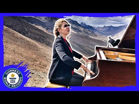 Concert in the Clouds! Highest altitude grand piano performance - Guinness World Records