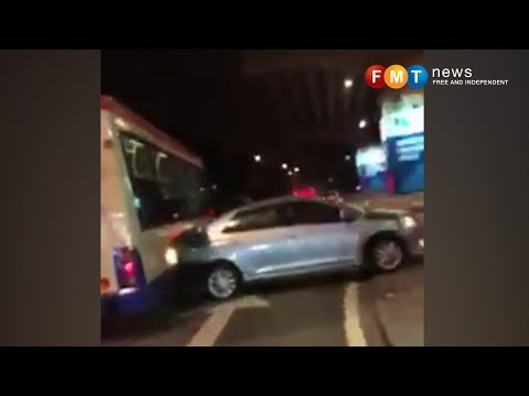 Panic in KL city centre as RapidKL bus smashed into 20 cars
