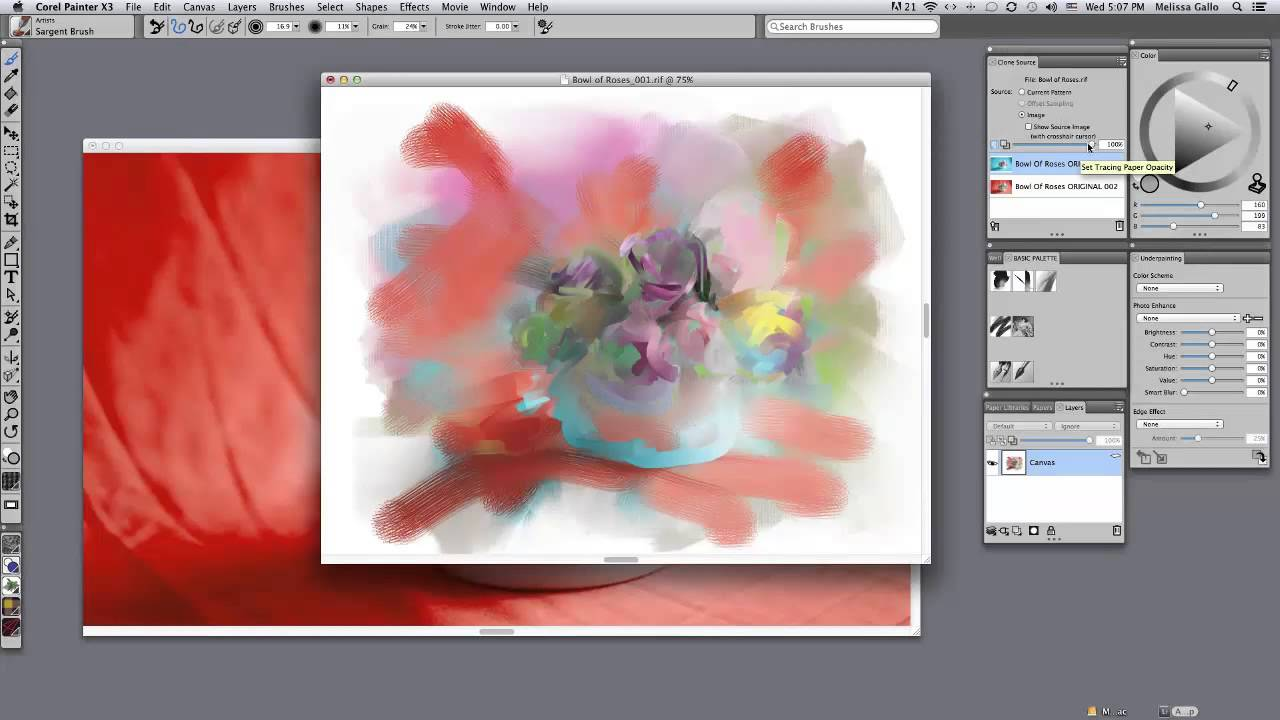 Corel painter tutorial: how to use the canvas youtube.