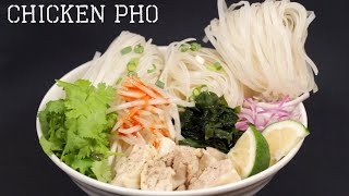 Chicken Pho Recipe (Japanese-inspired Vietnamese Rice Noodle Soup)  Cooking with Dog