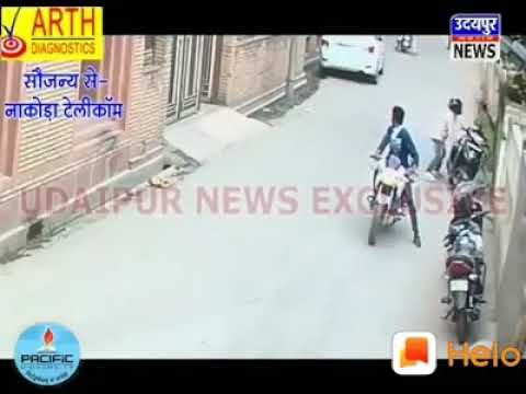 Chain snatchers were caught by the police:: CCTV video